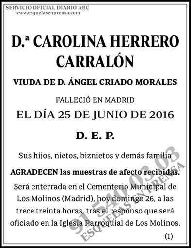 Carolina Herrero Carralón